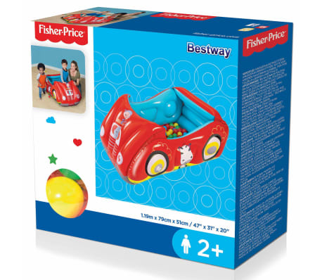 Bestway Piscina de bolas hinchable forma de coche Fisher Price 93520[8/8]