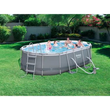 bestway pool set levant oval grau 424x250x100 cm 56620 g nstig kaufen. Black Bedroom Furniture Sets. Home Design Ideas