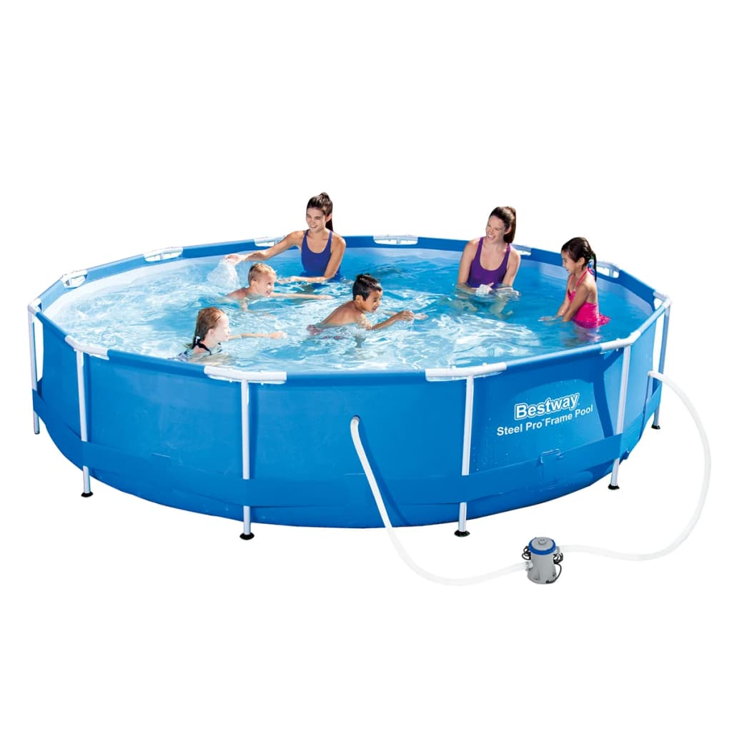 Bestway Set piscină Sirocco, rotund, albastru, 366 cm, 56416 poza vidaxl.ro