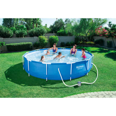 acheter bestway piscine sirocco ronde bleu 366 cm pas cher. Black Bedroom Furniture Sets. Home Design Ideas