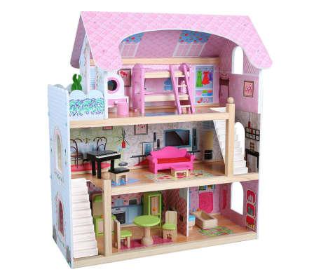 AK Sports Casa de muñecas 62.5x31x70 cm madera 4110