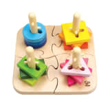404496 Hape Creative Peg Puzzle E0411 - Untranslated
