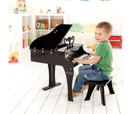 Piano negro de juguete modelo Grand, marca Hape E0320[3/4]
