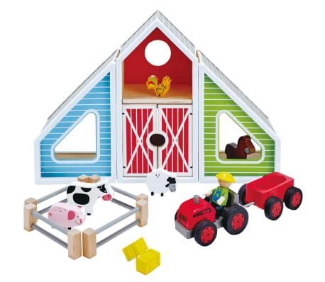Set granja de juguete Hape Barn Play E3015