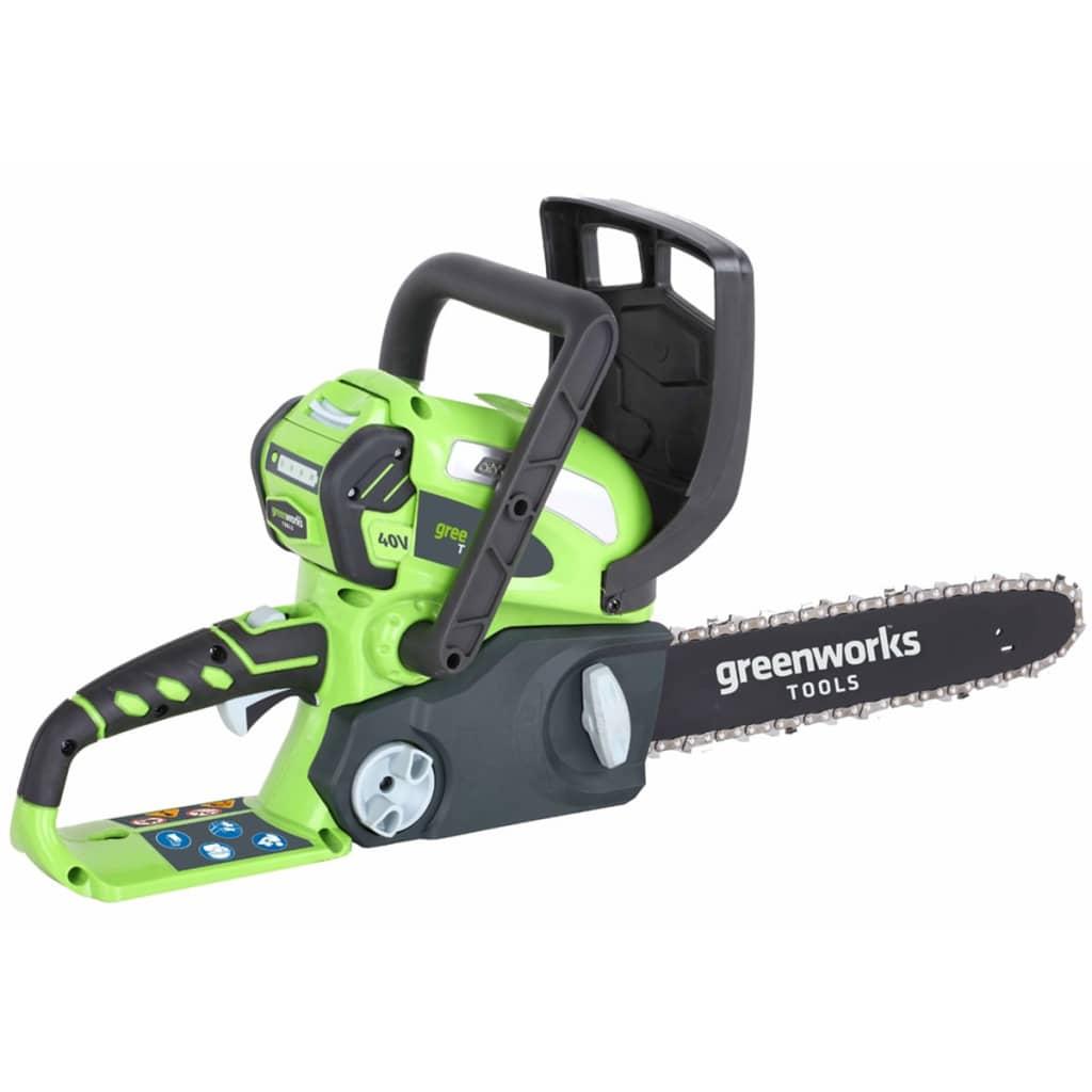 Greenworks Drujbă fără baterie de 40 V, G40CS30, 30 cm, 20117 poza vidaxl.ro