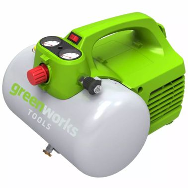 Greenworks Compresor de aire eléctrico GAC6L 300 W 6 L 4101302[2/2]