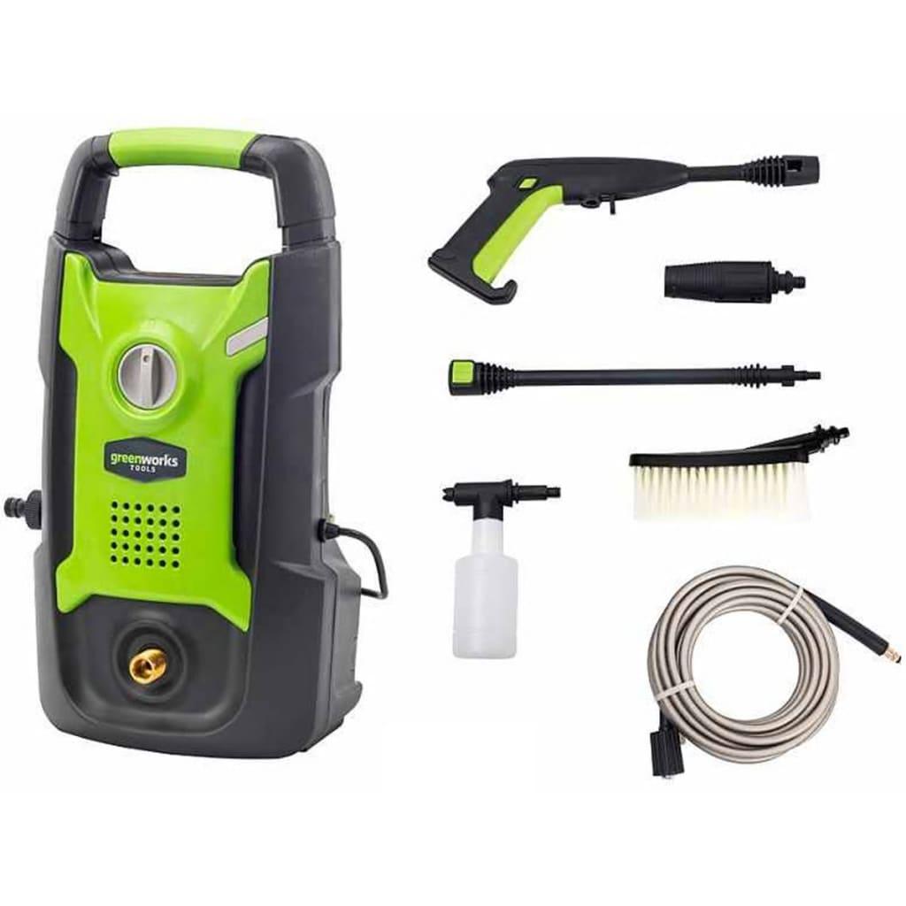 Greenworks Elektrisk høytrykksspyler GPWG1 100 bar 1300 W 5100007