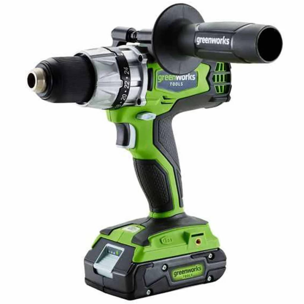 Greenworks 417784 Taladro combi batería 24 V no incl. G24CD 3801107