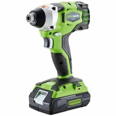Greenworks Llave impacto sin escobillas batería no inc. GD24ID 3801407[1/2]