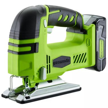 Greenworks Tools 3600707/Stichs/äge kabellos 24/V ohne Akku oder Ladeger/ät Li-Ion gr/ün
