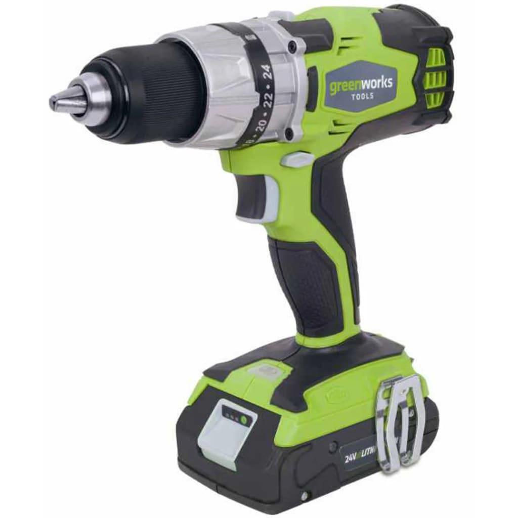Greenworks Taladro sin escobillas batería 24 V no incl. G24DD 3701607