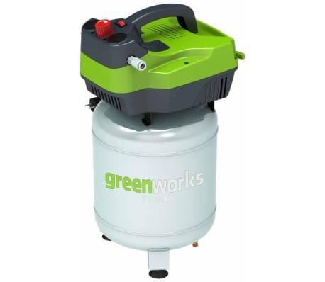 Greenworks Compresor de aire eléctrico vertical GD24AC 300W 6L 4101707[1/2]