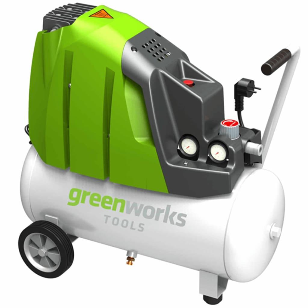 Greenworks Elektrisk luftkompressor GAC24L 1100 W 24 L 4101807