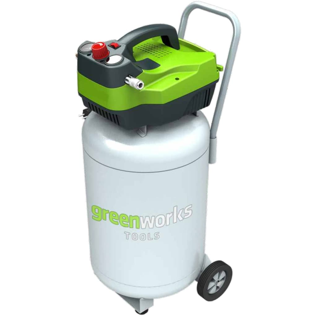 Greenworks Luftkompressor elektrisk vertikal GAC50V 1100 W 50 L 4101907