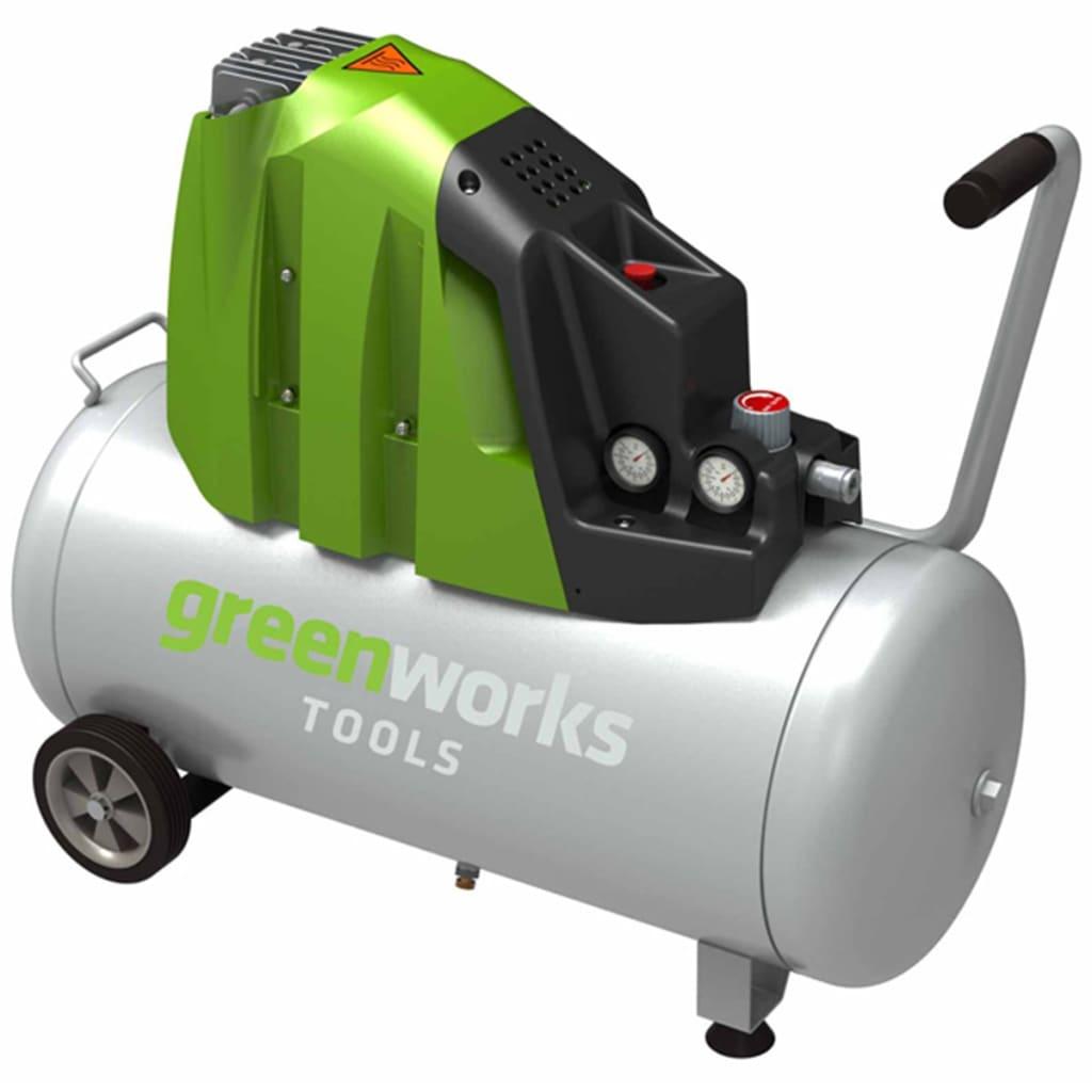 Greenworks Elektrisk luftkompressor GAC50L 1100 W 50 L 4102007