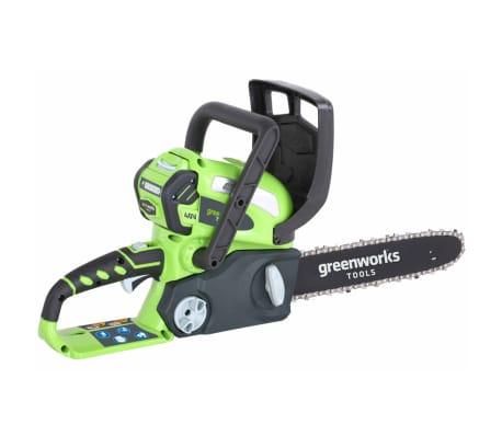 Greenworks Motorsåg med 40 V 2 Ah-batteri G40CS30 30 cm 20117UA