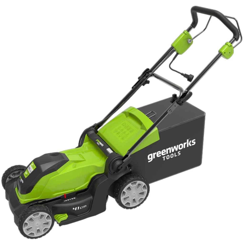 Greenworks Mașină de tuns iarba electrică GLM1241 230 V 41 cm 2505207 imagine vidaxl.ro