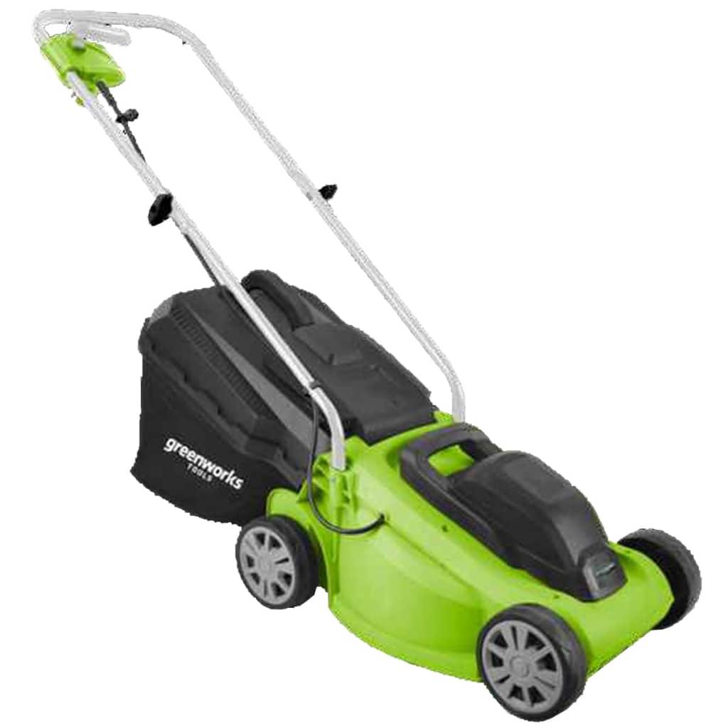 Greenworks Mașină de tuns iarba electrică GLM1232 32 cm 2502207 vidaxl.ro