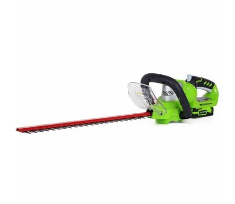 Greenworks Häcksax med 24 V-batteri Deluxe G24HT57 2200107UA