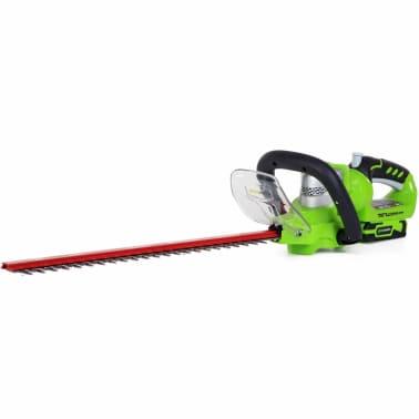 Greenworks Heckenschere Deluxe G24HT57 mit 24 V-Akku 2200107UA[1/3]