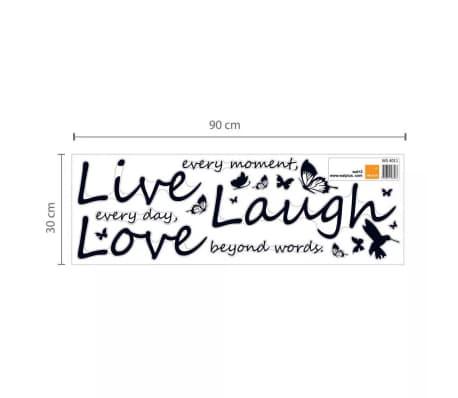 Wall Sticker Decal Blossom Vivid Live Laugh Love Quote Decoration Vidaxl Co Uk