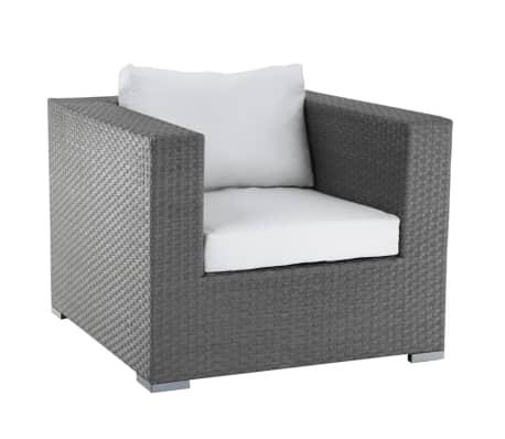 gartensessel rattan grau auflagen beige maestro g nstig kaufen. Black Bedroom Furniture Sets. Home Design Ideas