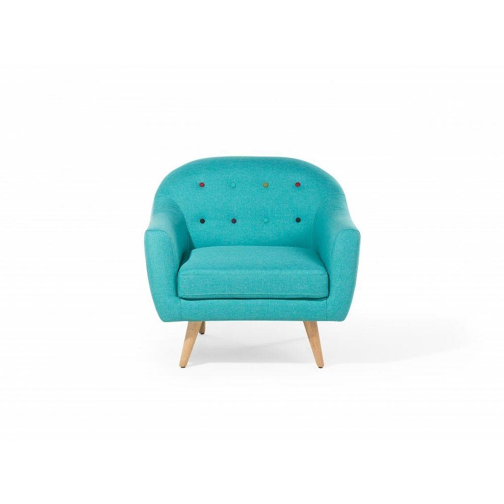Beliani Gjovik - Fauteuil Stof turquoise