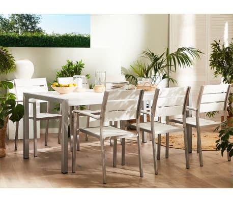 Acheter table de jardin et 6 chaises aluminium plateau en for Plateau table 180