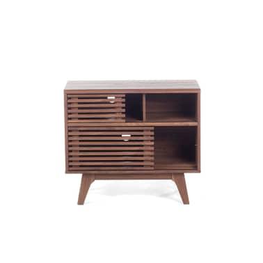Credenza da soggiorno in legno marrone - CLEVELAND | vidaXL.it