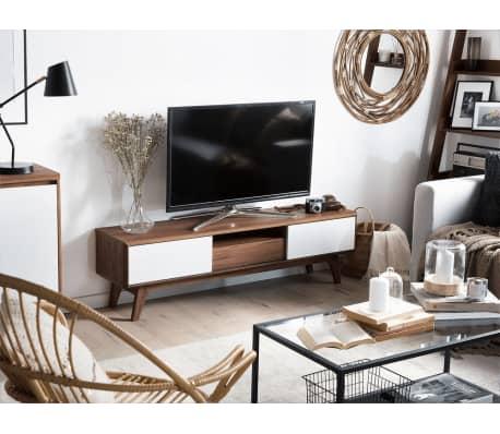 Mobile TV da soggiorno in color noce e bianco - EERIE | vidaXL.it