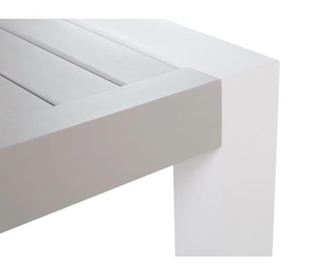 lounge set aluminium weiss 6 sitzer auflagen grau vinci. Black Bedroom Furniture Sets. Home Design Ideas