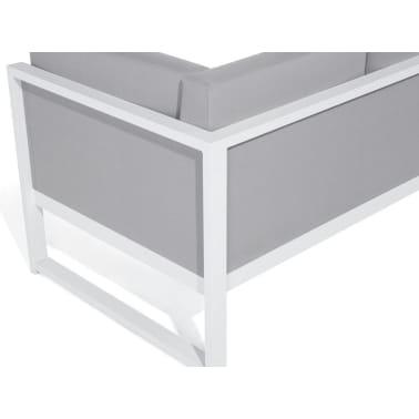 Salon de jardin en aluminium blanc et gris VINCI | vidaXL.fr