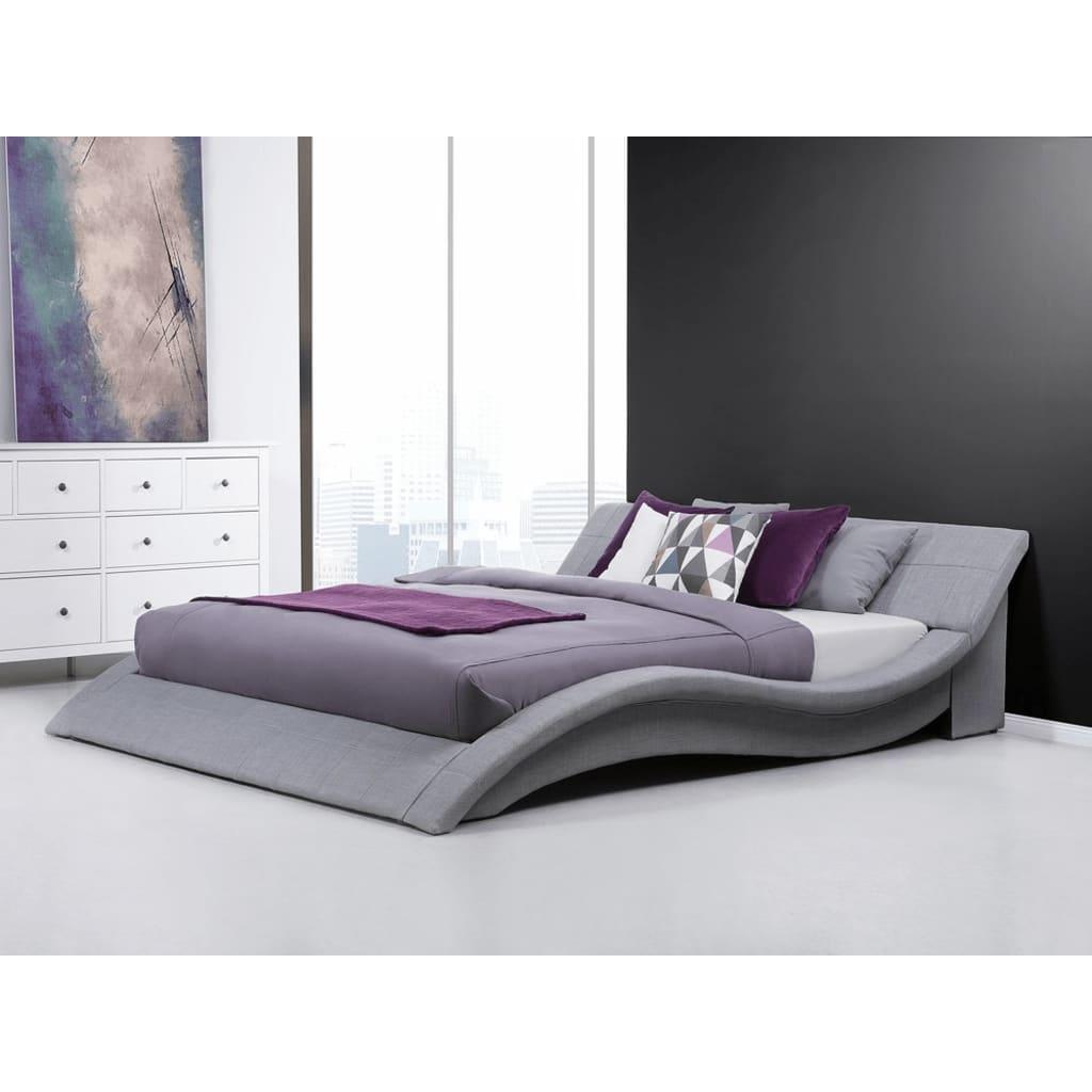 Beliani Vichy - Bed Stof grijs 180 x 200 cm