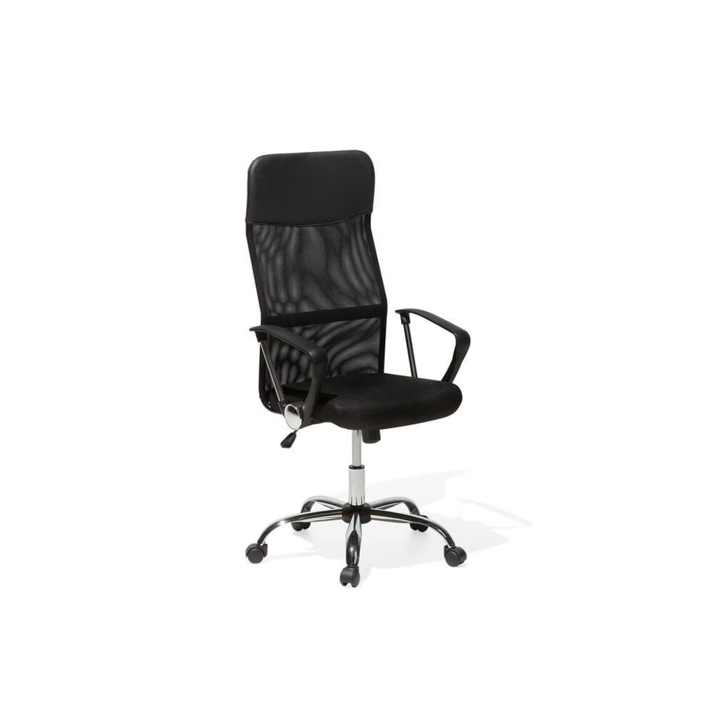 Beliani Design - Bureaustoel Leer zwart
