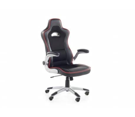 b rostuhl schwarz rot h henverstellbar master im vidaxl trendshop. Black Bedroom Furniture Sets. Home Design Ideas