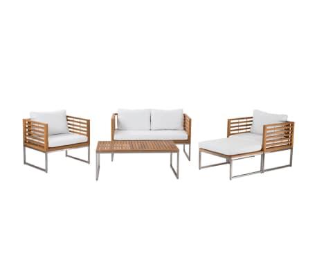 gartenm bel set holz 4 sitzer auflagen beige bermuda. Black Bedroom Furniture Sets. Home Design Ideas
