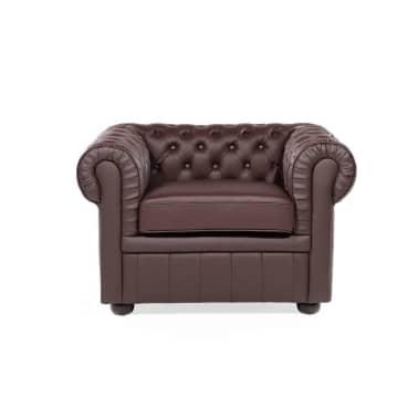 sessel leder braun chesterfield zum schn ppchenpreis. Black Bedroom Furniture Sets. Home Design Ideas