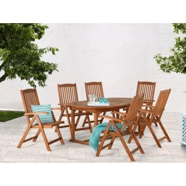 Table de jardin - table en bois ovale à rallonges TOSCANA | vidaXL.be