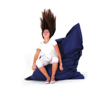acheter pouf g ant xxl coussin de sol 140x180 cm bleu fonc pas cher. Black Bedroom Furniture Sets. Home Design Ideas