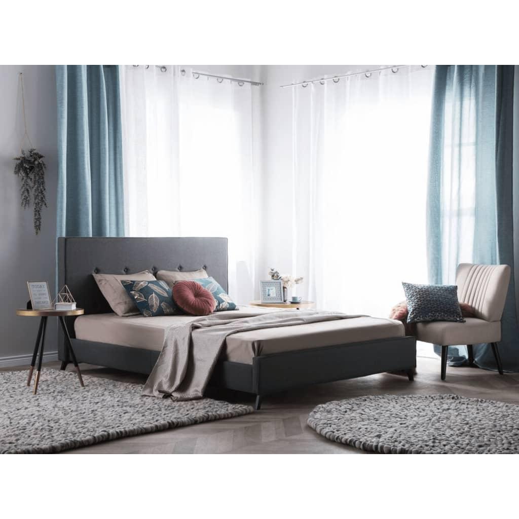 Beliani Ambassador - Bed Stof grijs 140 x 200 cm