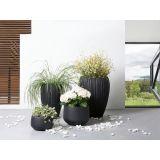 Blomsterkrukke, 45x45x34 cm, Sort, CORRIB