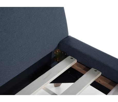 polsterbett dunkelblau lattenrost 160 x 200 cm vienne g nstig kaufen. Black Bedroom Furniture Sets. Home Design Ideas