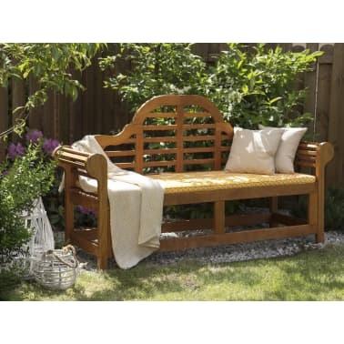 auflage f r gartenbank marlboro gelbes muster 152 x 52 x 5 cm g nstig kaufen. Black Bedroom Furniture Sets. Home Design Ideas