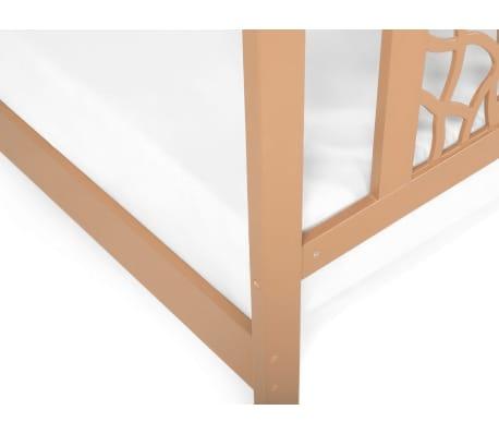 acheter lit double en bois 180x200 cm marron clair calais pas cher. Black Bedroom Furniture Sets. Home Design Ideas