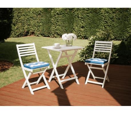 Shop Udendørs Cafe Sæt, Klap bord og 2 stole, Sæt i hvid, Altan sæt ...
