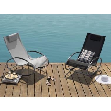 Chaise de jardin à bascule noire CAMPO |