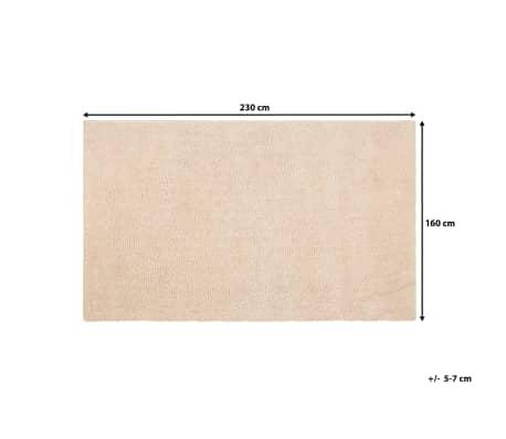 Teppich Hellbeige 160 X 230 Cm Shaggy Demre Gunstig Kaufen Vidaxl De