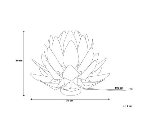 Lámpara de mesa blanca MUSONE[9/10]