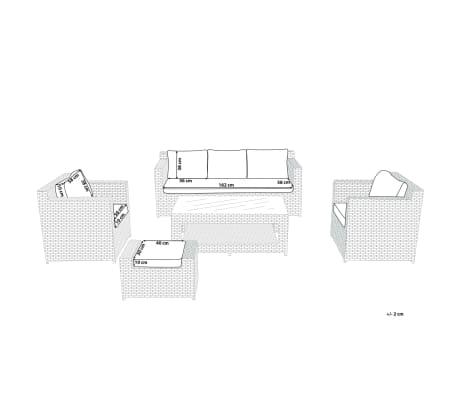 Set de housses tissu gris pour salon de jardin ROMA