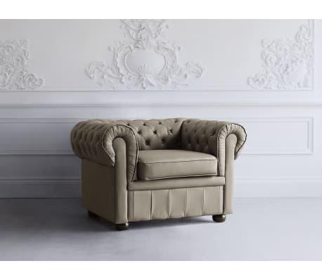 sessel leder cappuccino chesterfield g nstig kaufen. Black Bedroom Furniture Sets. Home Design Ideas